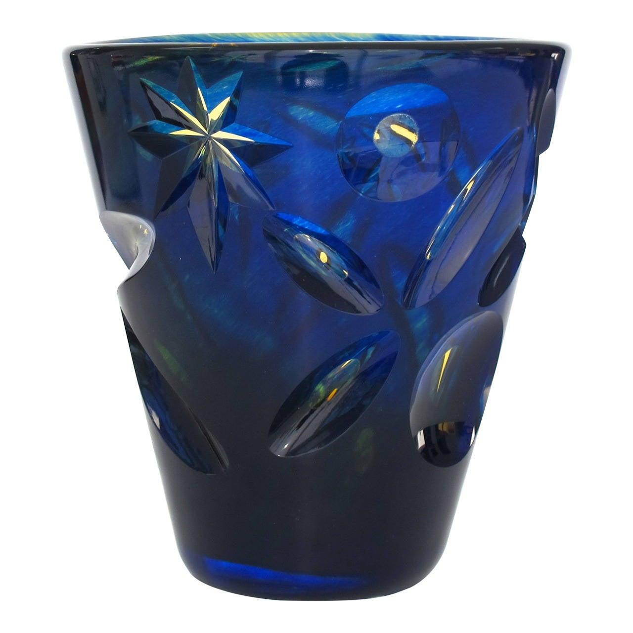 Göran Wärff Modern Art Glass Vase for Kosta Boda, Unica