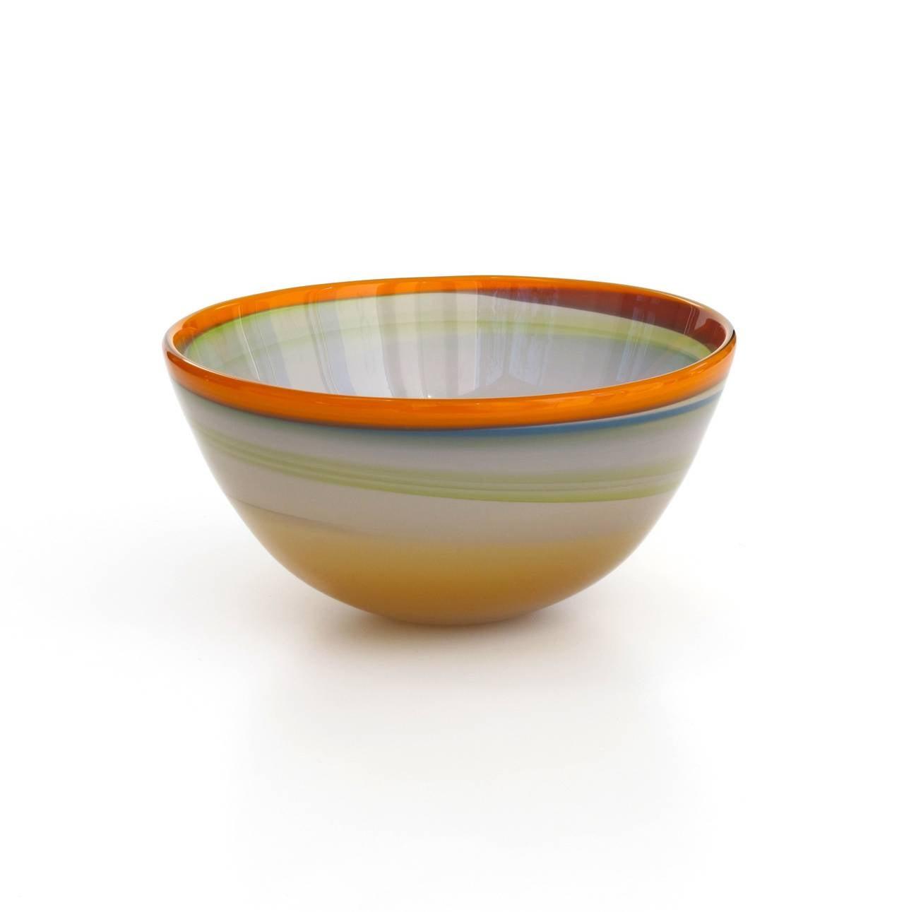 polychrome modern art glass bowl by misha ignis at stdibs - polychrome modern art glass bowl by misha ignis