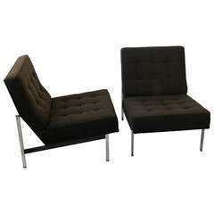 Pair of Parallel Bar Lounge Chairs by Florence Knoll, circa 1955