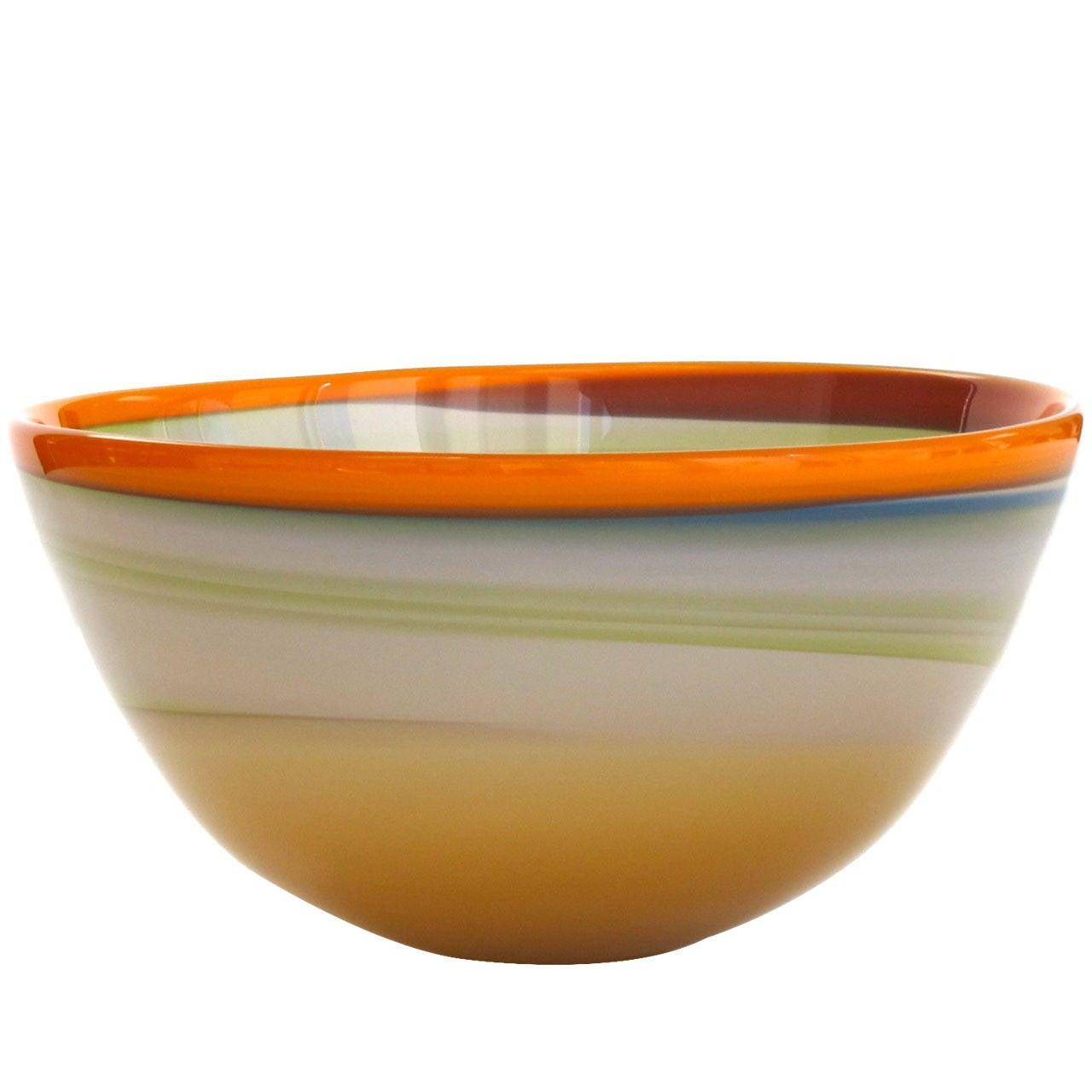 Polychrome Modern Art Glass Bowl By Misha Ignis At 1stdibs