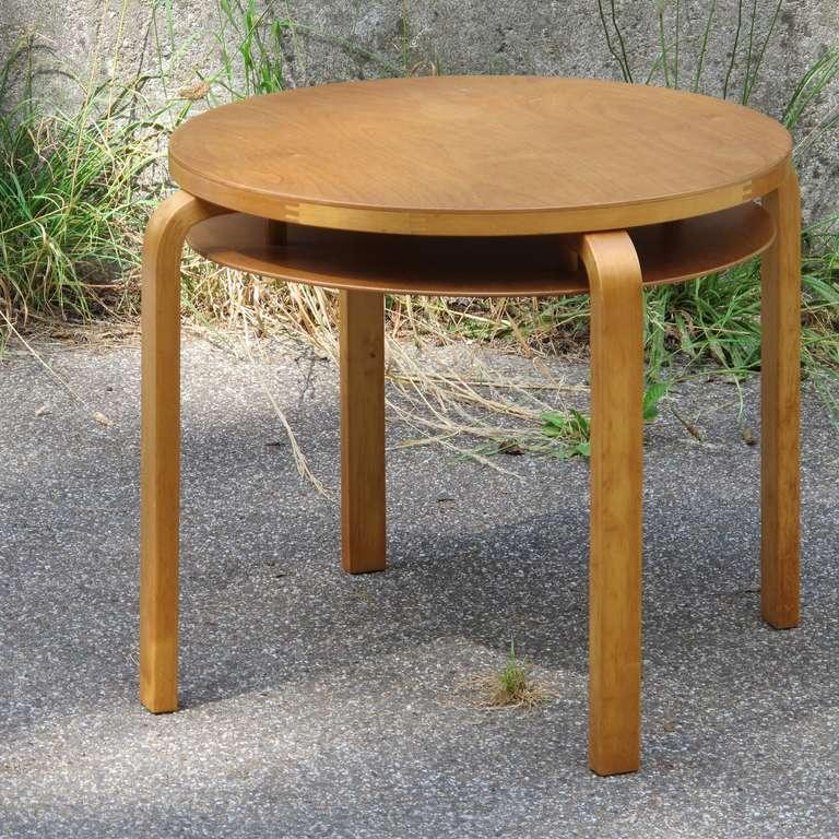 Alvar Aalto Modernist Side Table and Stool executed by Artek ca. 1950 3 & Alvar Aalto Modernist Side Table and Stool executed by Artek ca ... islam-shia.org