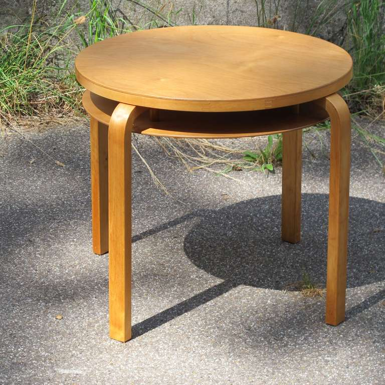 Alvar Aalto Modernist Side Table And Stool Executed By
