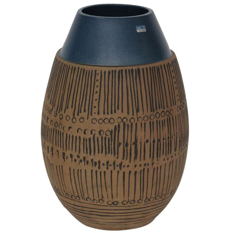 Lisa Larson for Gustavsberg, Large Mid-Century Modern Ceramic Vase, 1950s