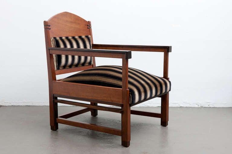 Amsterdam School Chair, Dutch Art Deco 1920s 2
