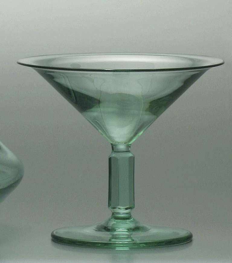 Dutch Art Deco Crystal Liquor Decanter And Glass By A D
