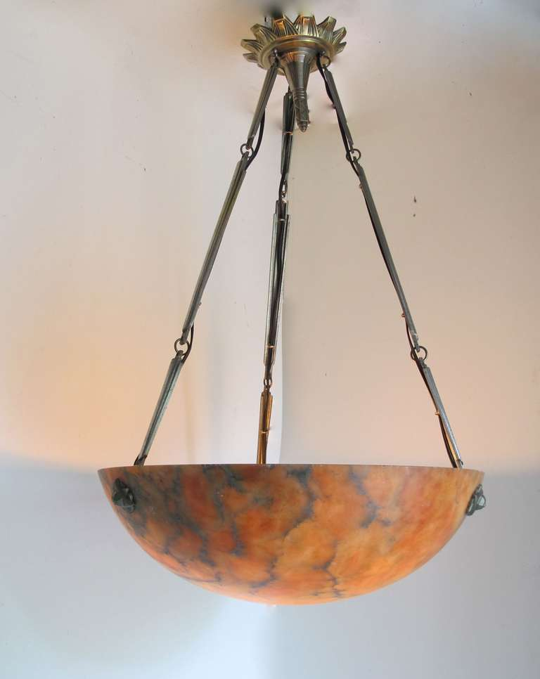 French Art Deco Alabaster Ceiling Lamp At 1stdibs