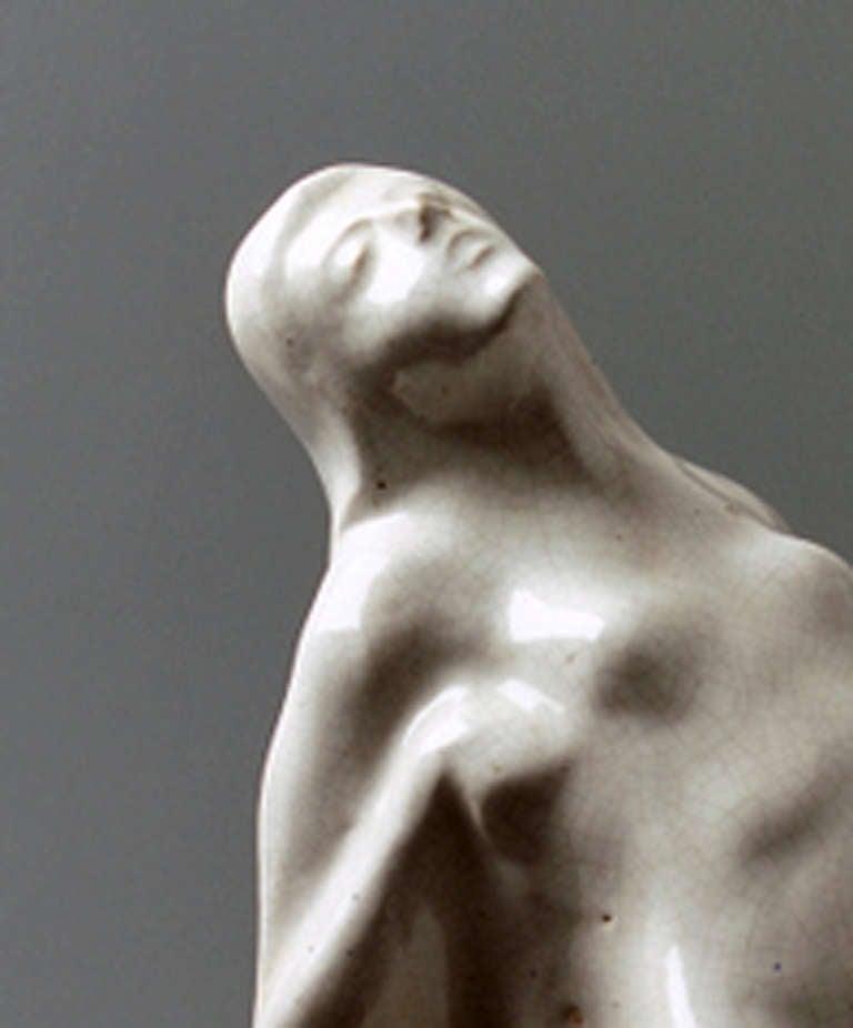 Earthenware Symbolistic Art Deco Sculpture, 1920s For Sale