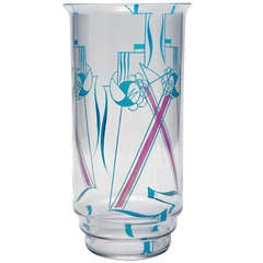 Dutch Art Deco Stained Glass Vase