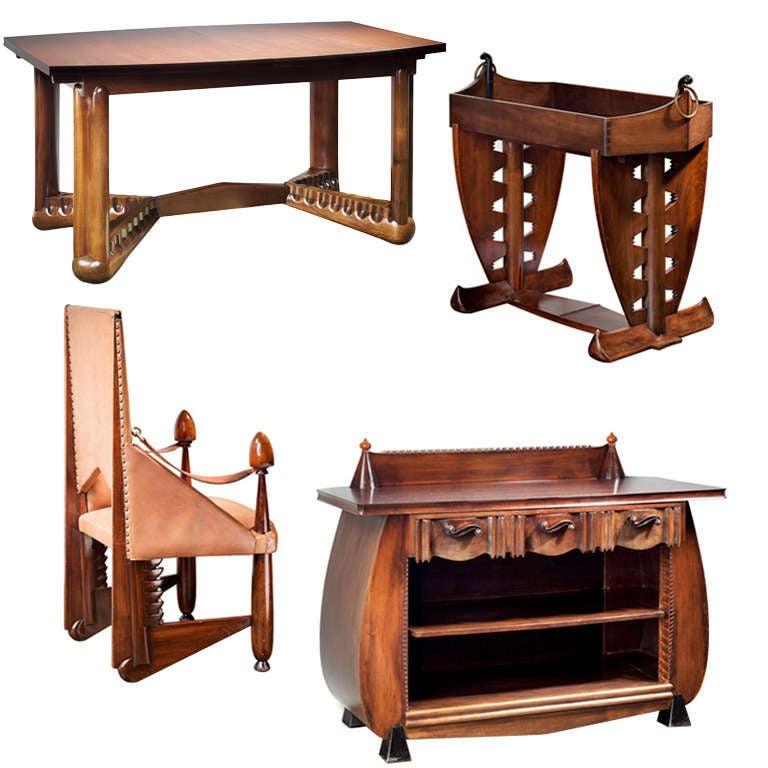 Art Deco Dining Room Sets - 50 For Sale at 1stdibs