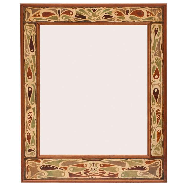 Dutch Art Nouveau Batik Mirror Frame, 1899 For Sale at 1stdibs