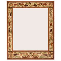Dutch Art Nouveau Batik Mirror Frame, 1899