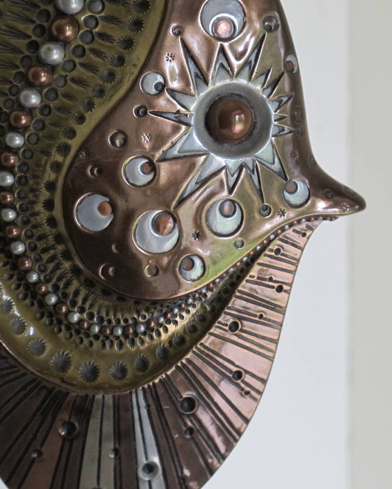 Decorative Metal Sculpture Of A Fish By Giovanni Schoeman