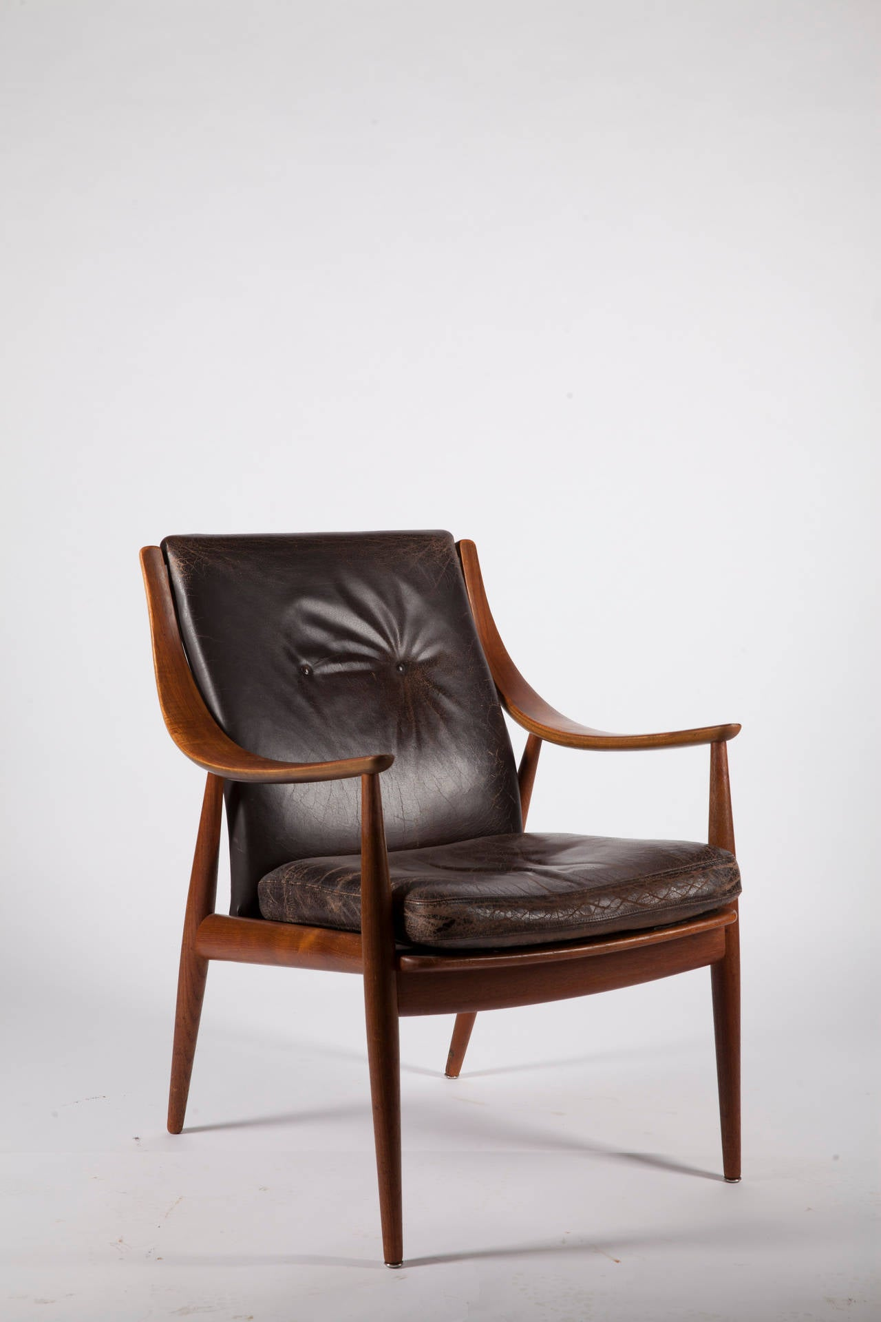 and m lgaard 1950s solid teak danish armchair for sale at 1stdibs
