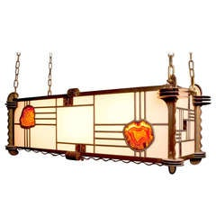 Art Deco Pendant Lamp with Gem Stone, 1920s