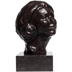 Bronze Sculpture of Dutch Queen Beatrix by Mari Andriessen, circa 1980