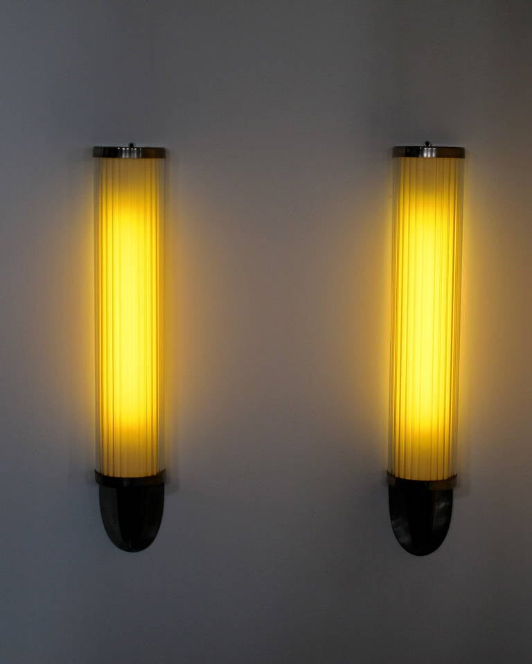 Wall Sconces Art Deco : Pair of Art Deco Wall Sconces at 1stdibs