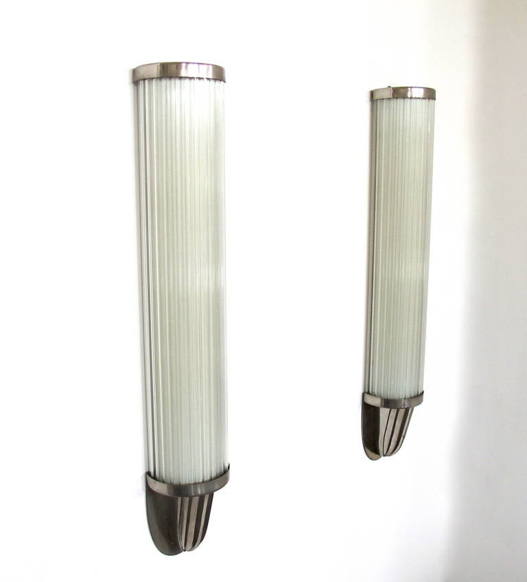 Wall Sconce Lighting Art Deco : Pair of Art Deco Wall Sconces at 1stdibs