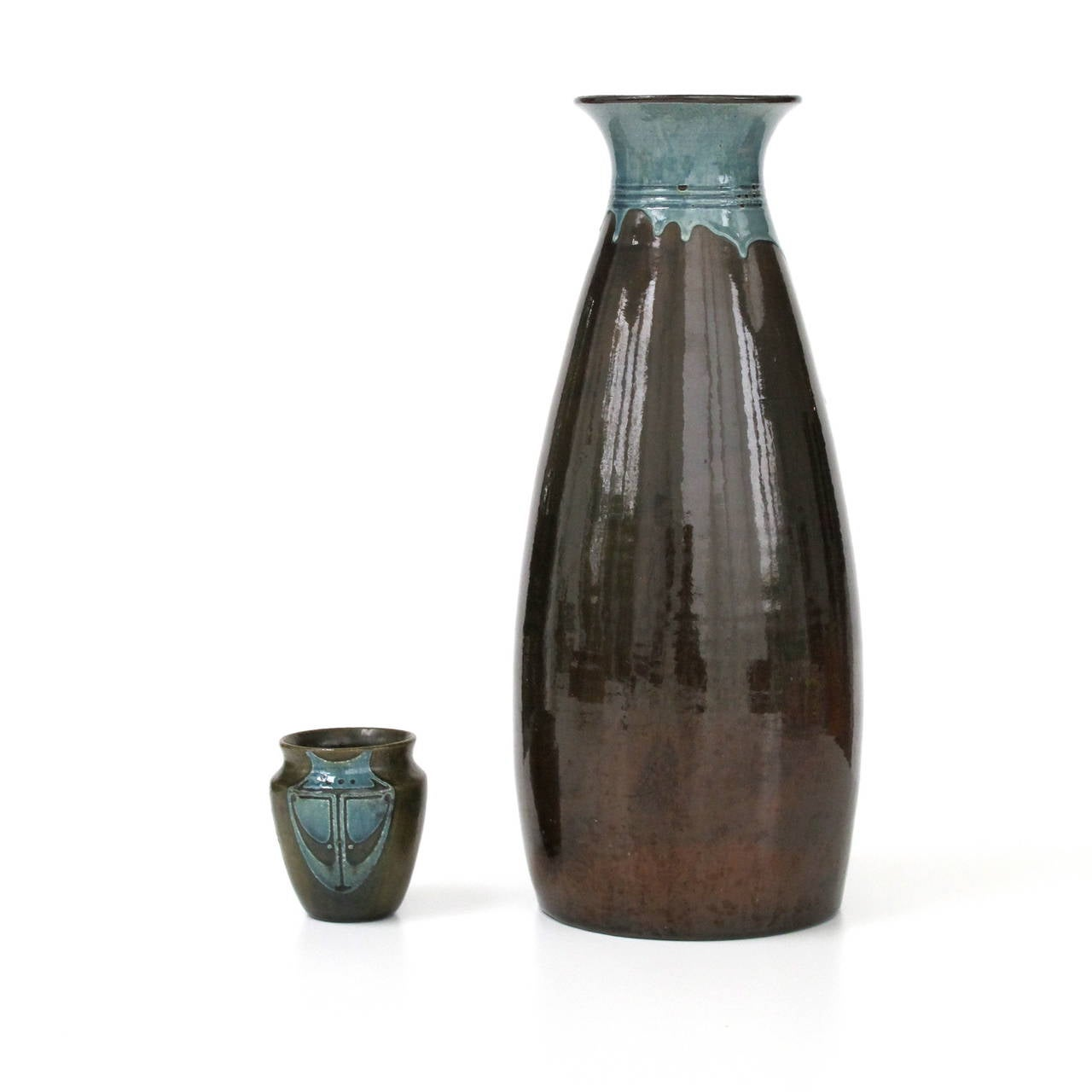 W c brouwer very large ceramic vase with drip glaze ca 1910 at 1stdibs - Object deco wc ...