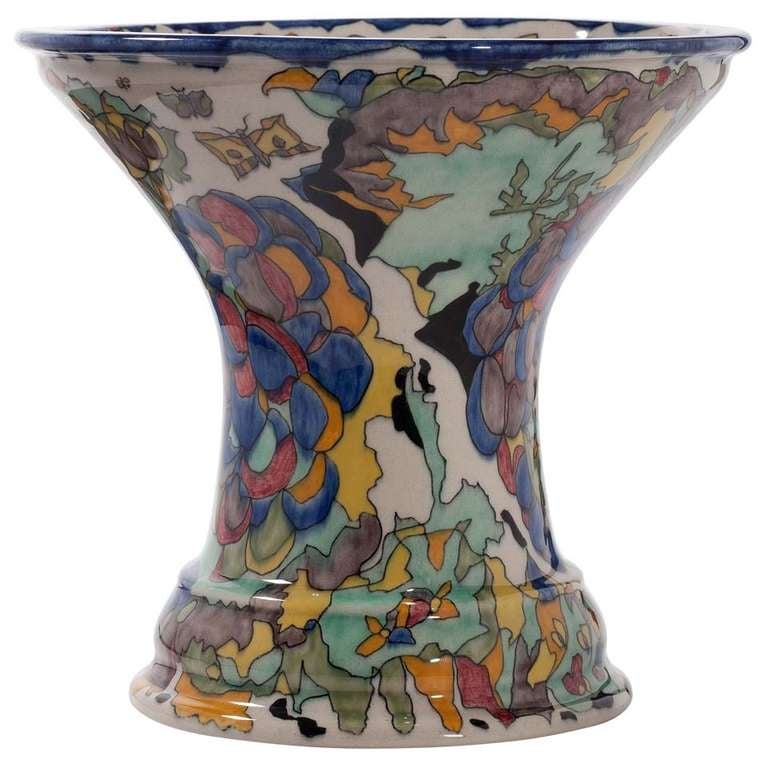 Art Deco Vase by Theo Colenbrander, Ram Pottery, Decor 'Grapes', 1923