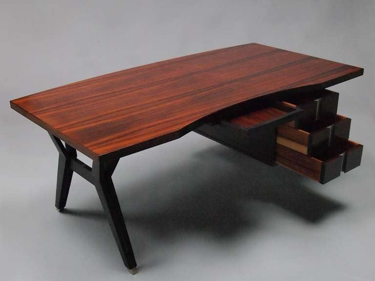 A rosewood terni desk by luisa and ico parisi at 1stdibs for Mobili italiani