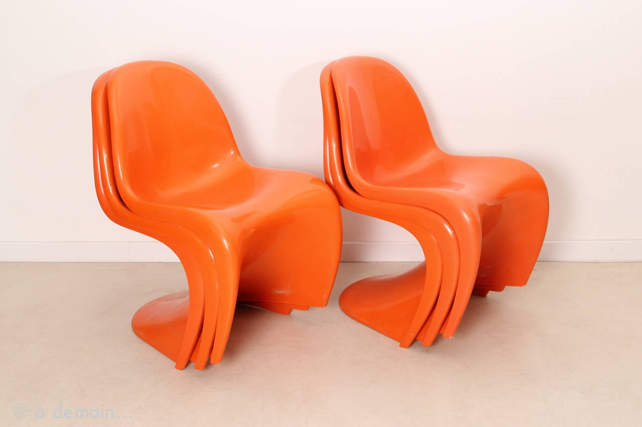 Exceptionnel Timeless And Mythical Panton: The Worldu0027s First Moulded Plastic Chair.  Designed In 1960,