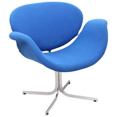 Blue Big Tulip Lounge Chair by Pierre Paulin Edited by Artifort in 1965