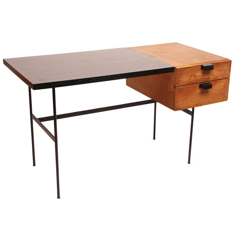 bureau desk pierre paulin cm141 thonet boid wood acier steel 1954 a demain 3. Black Bedroom Furniture Sets. Home Design Ideas