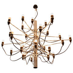Iconic Chandelier First Series 2097/30 by Gino Sarfatti Edited by Arteluce, 1958