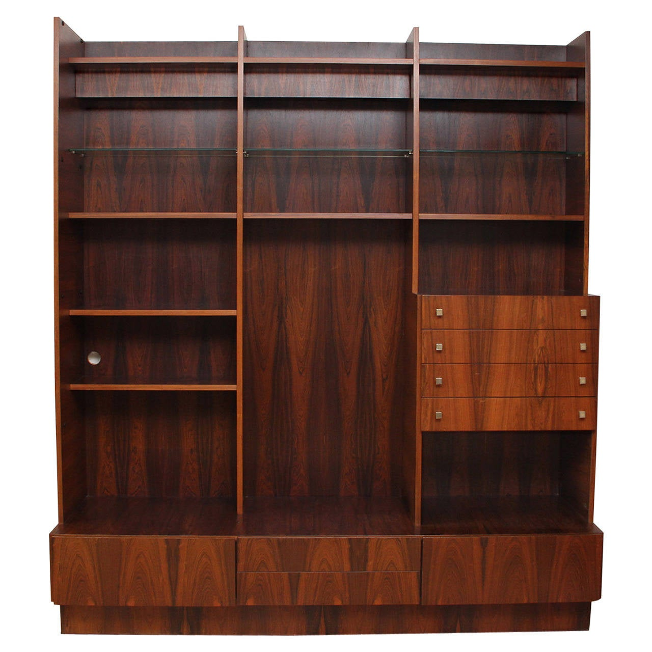 Rosewood Bookcase: 1960s Danish Large Rosewood Bookcase At 1stdibs