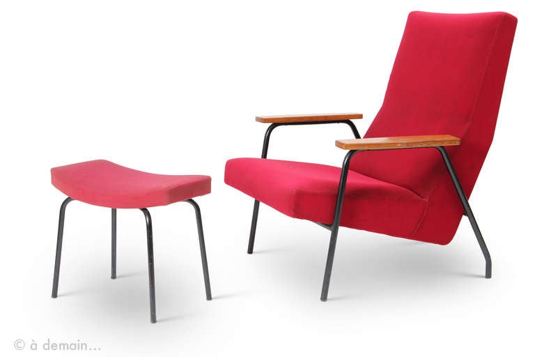1950 39 s armchair and ottoman designed by pierre guariche for meurop at 1st - Pierre guariche fauteuil ...