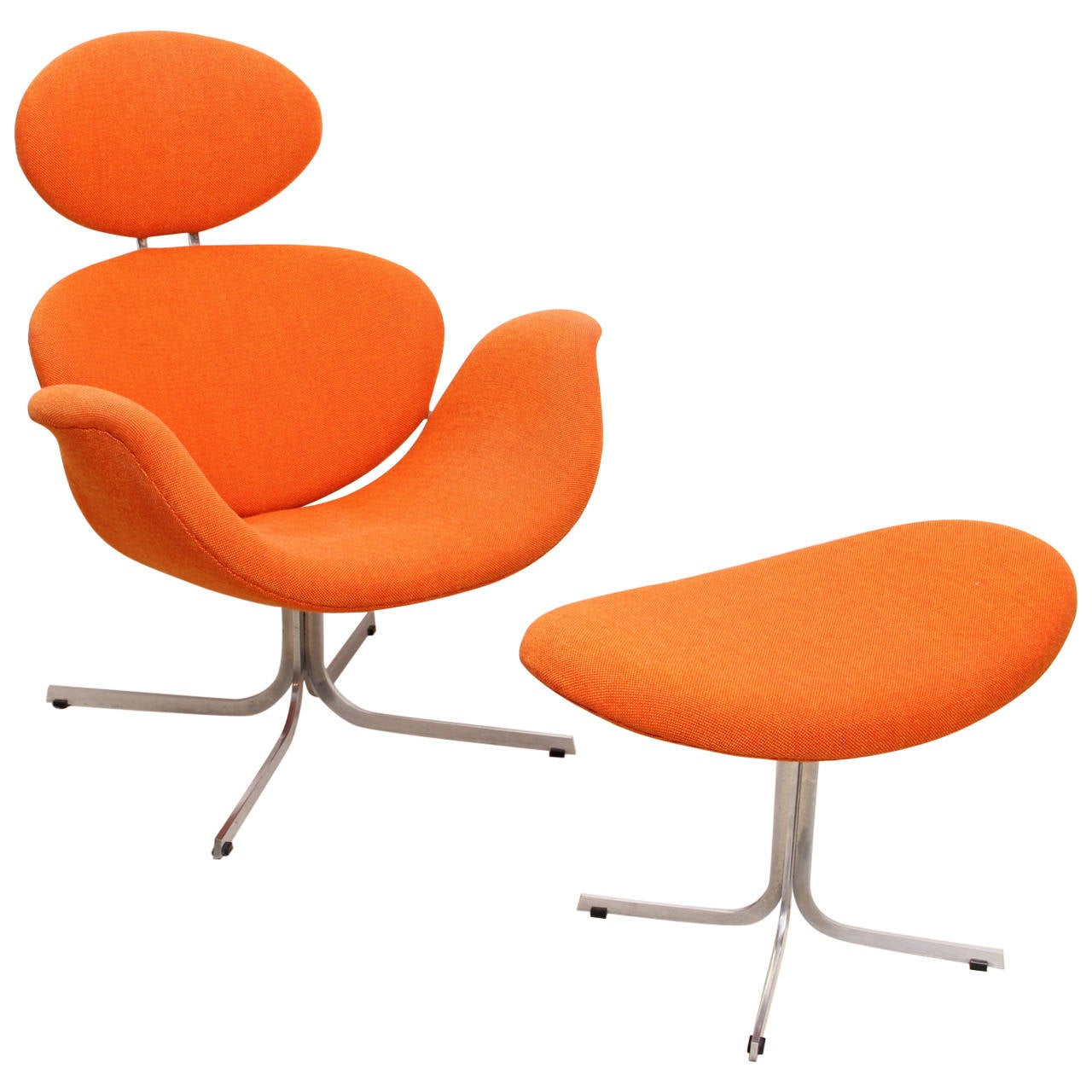 1960s Big Tulip Lounge Chair and Ottoman by Pierre Paulin ...
