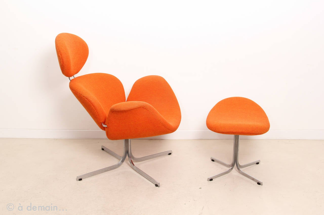 1960s Big Tulip Lounge Chair and Ottoman by Pierre Paulin Produced by Artifor