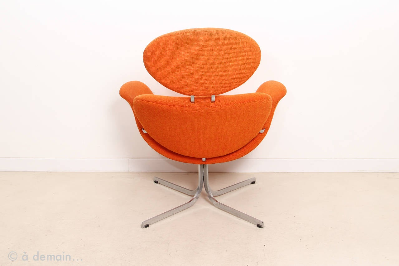 1960s Big Tulip Lounge Chair And Ottoman By Pierre Paulin