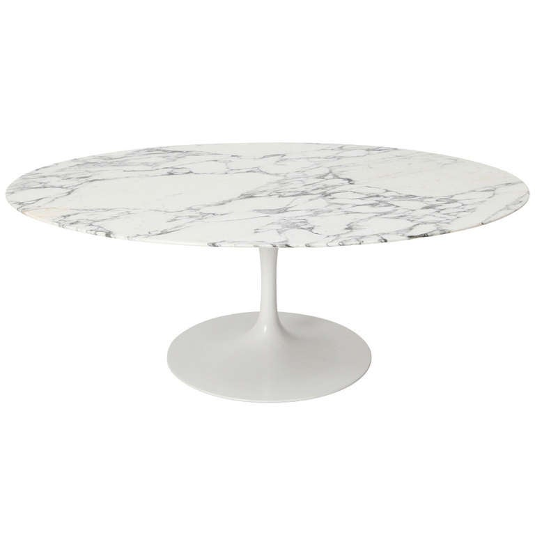 Eero Saarinen Marble Coffee Table Edited By Knoll 1950s At 1stdibs