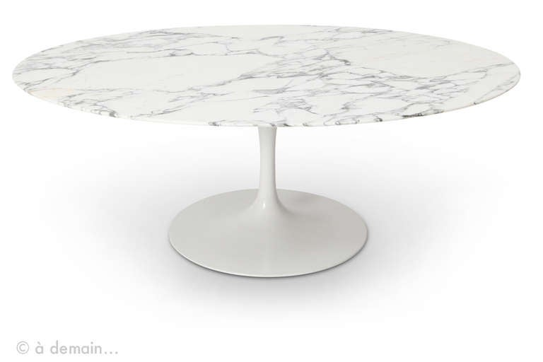 eero saarinen marble coffee table edited by knoll, 1950s at 1stdibs