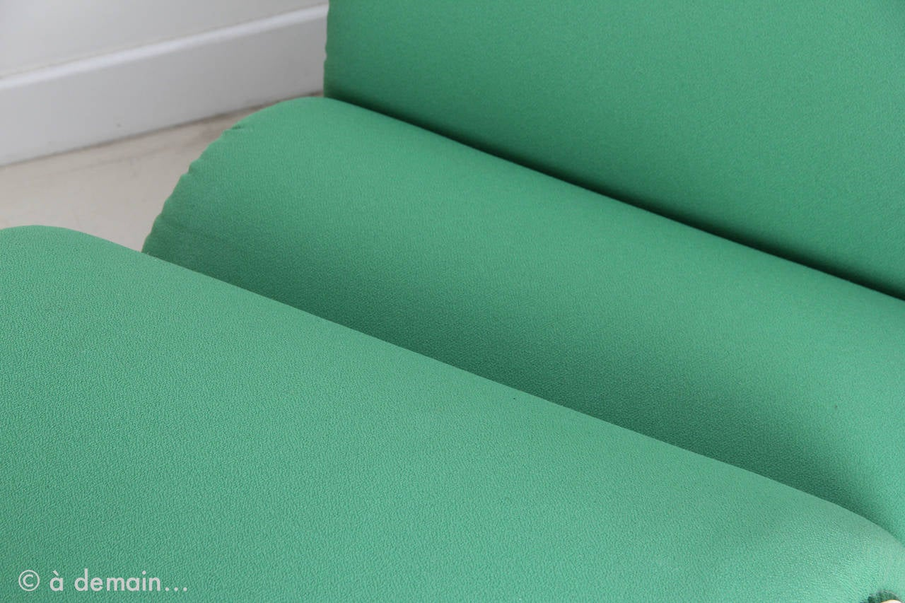 PVC Green Tube Chair Designed by Joe Colombo Produced by Flexform in 1969 For Sale