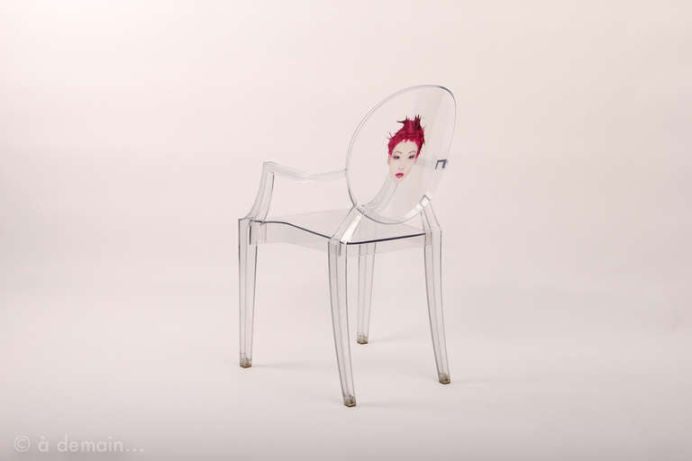 Chaises louis ghost starck for Chaise louis ghost kartell