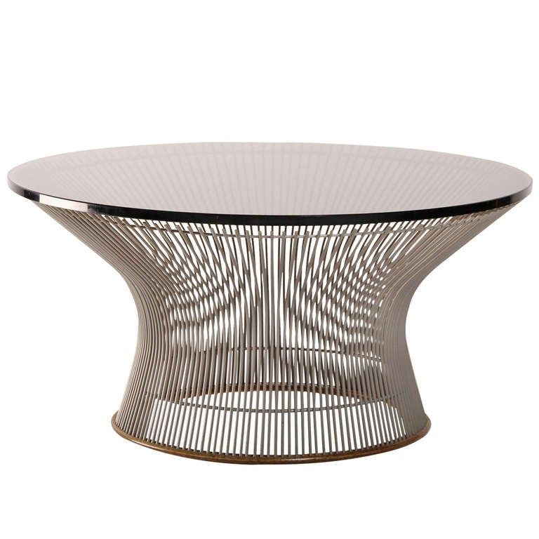 coffee table series 1725 designed by warren platner edited by knoll
