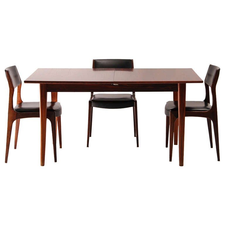 Dining table and its four chairs scandinavian design from - Four dining room chairs set ...