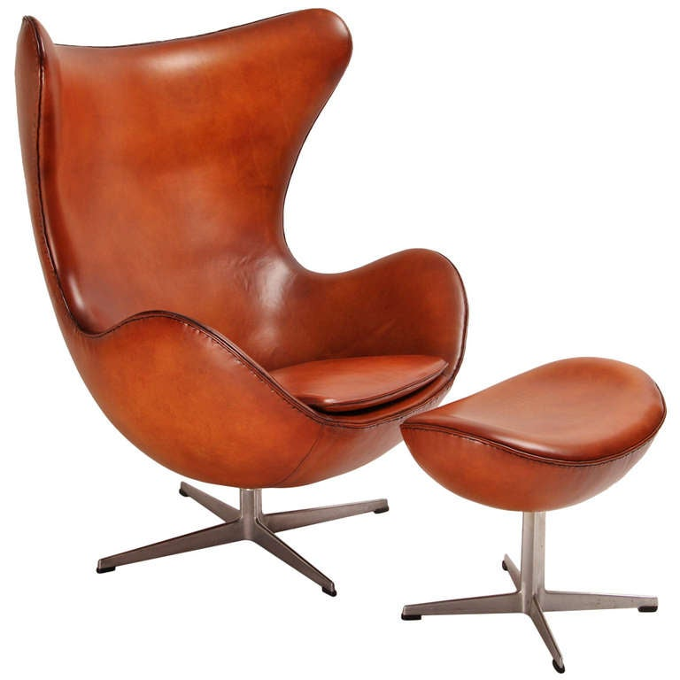 egg chair and its ottoman designed by jacobsen edited by