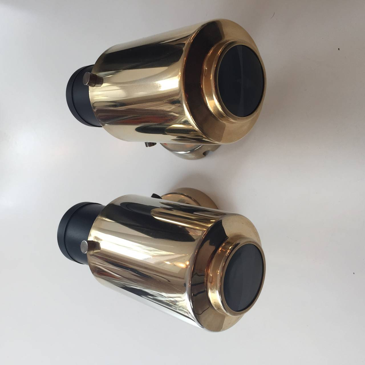 Mid-20th Century Pair of Jacques Biny Wall Lights for Lita from the 1950s For Sale