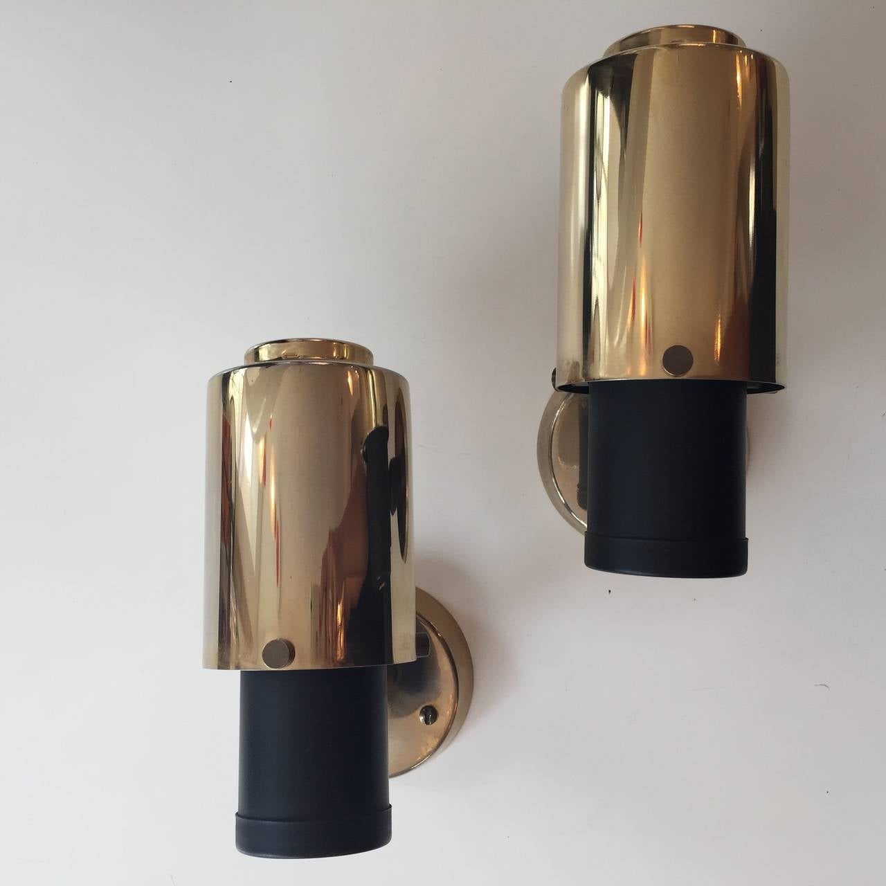 Pair of Jacques Biny Wall Lights for Lita from the 1950s In Good Condition For Sale In Paris, FR
