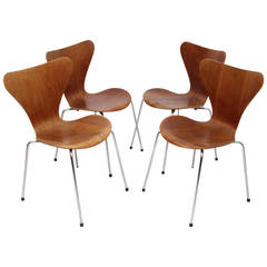 """""""Series 7"""" Chairs Designed by Arne Jacobsen, Edited by Fritz Hansen, 1966"""