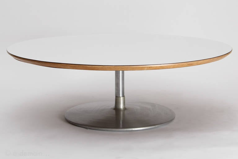 1960s Pierre Paulin Circle Coffee Table Basse Edited By