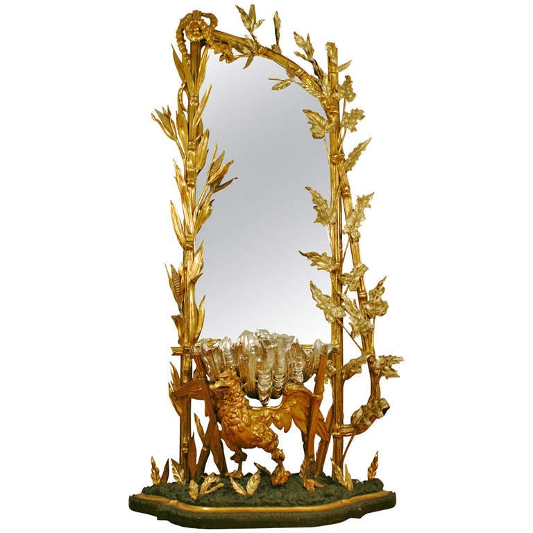 19th C Italian Rare And Fabulous Clam Shell Mirror At 1stdibs