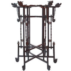 19th Century Lacquered Wood Chinese Lantern