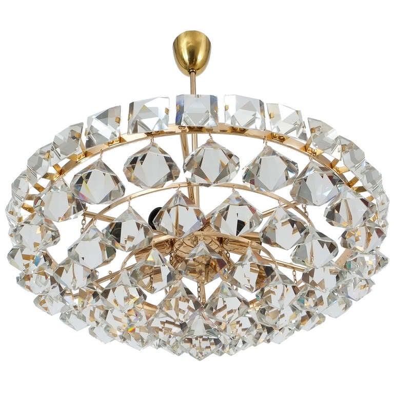 Bakalowits And Sohne Chandelier With Pear Shaped Crystals