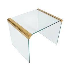 Italian Clear Glass Side Table By Pierangelo Galotti for Galotti & Radice