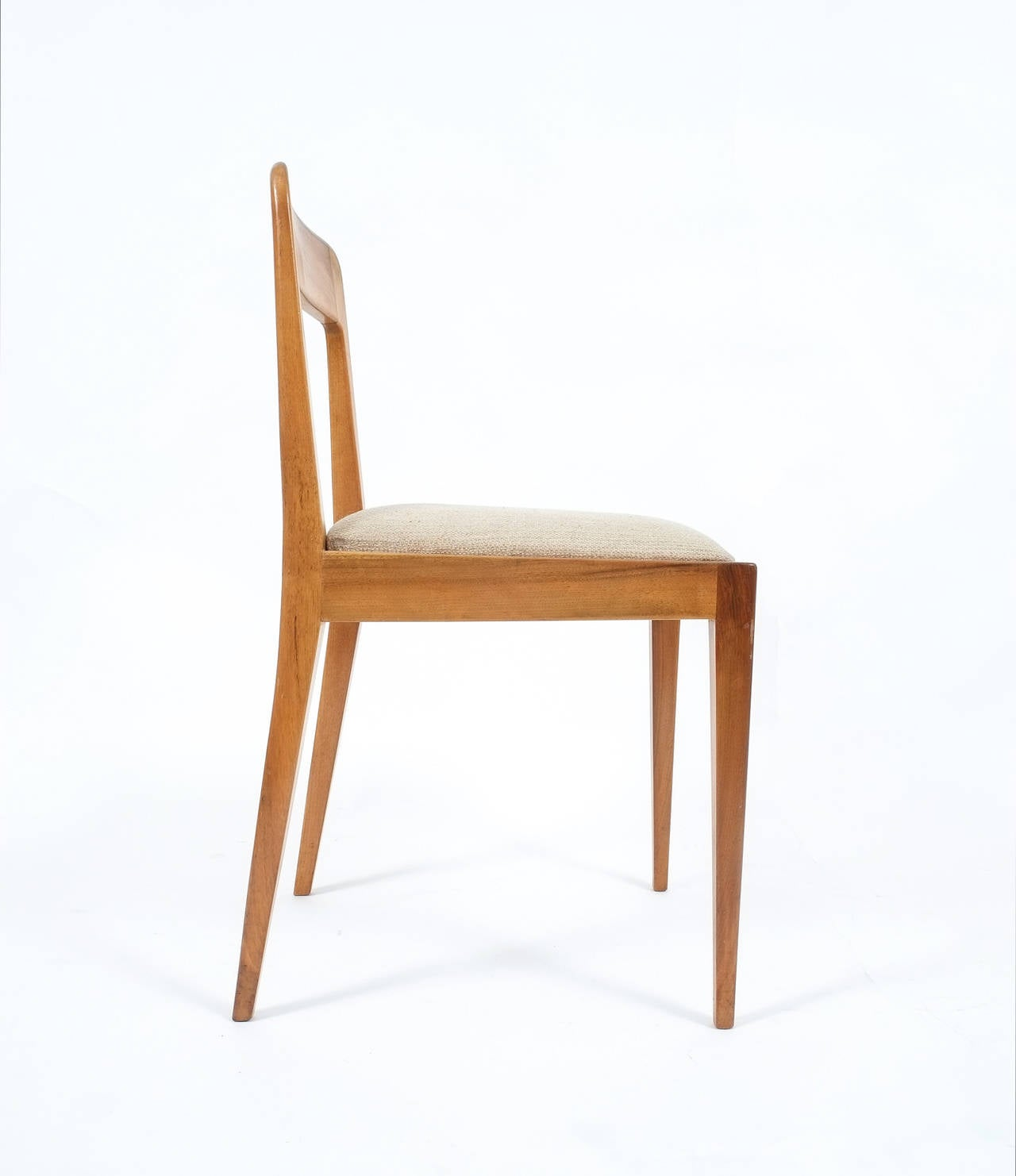 Mid-Century Modern Set of Six Carl Auböck Wooden Chairs Mid-Century, 1950 For Sale