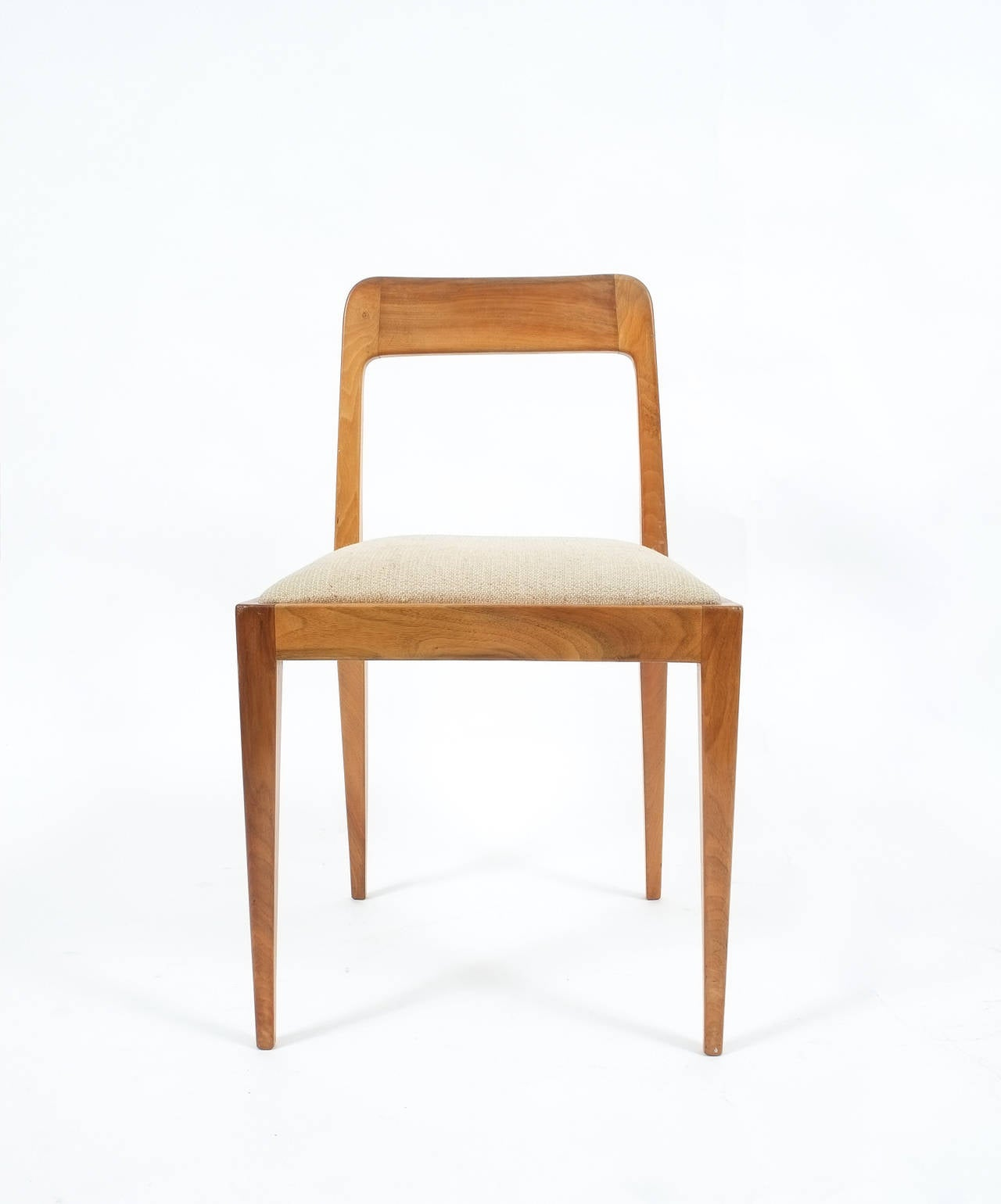 Austrian Set of Six Carl Auböck Wooden Chairs Mid-Century, 1950 For Sale